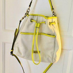 Coach Canvas Drawstring Bucket Bag